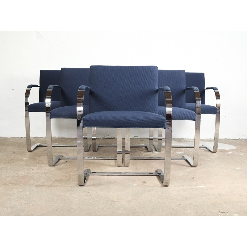 Vintage Set Of 6 Brno Chairs By Ludwig Mies Van Der Rohe For Knoll
