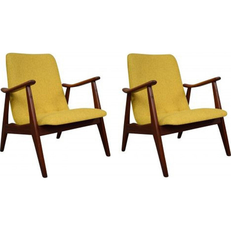 Vintage lounge chair by Louis Van Teefelen for Webe - 1960s