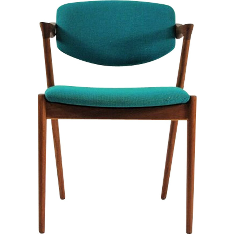 1960s Kai Kristiansen Set of 8 Model 42 Dining Chairs in Teak