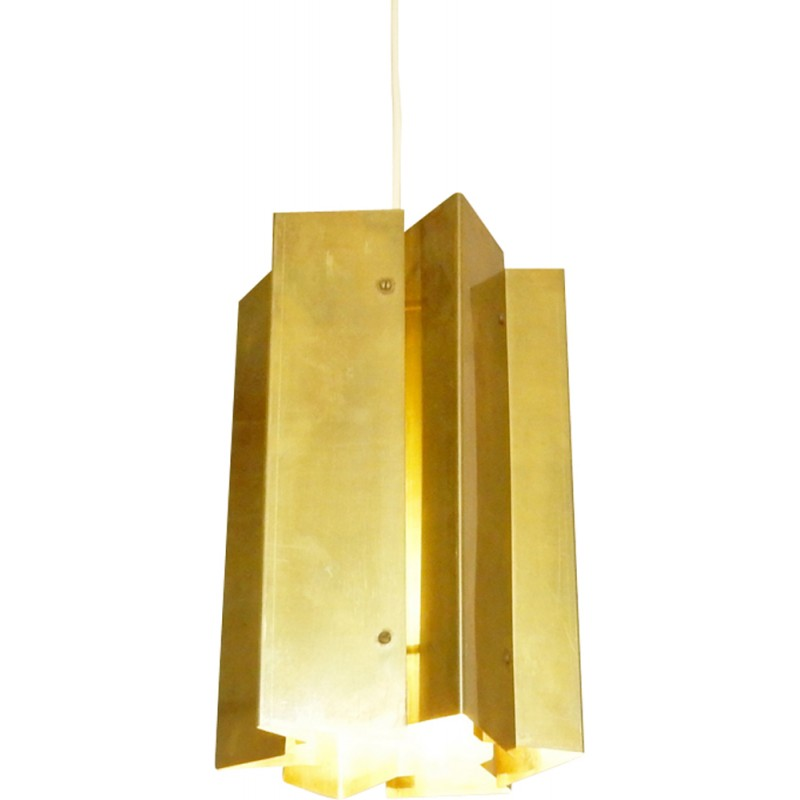 Vintage danish pendant lamp in brass 1960s design market vintage danish pendant lamp in brass 1960s mozeypictures Image collections