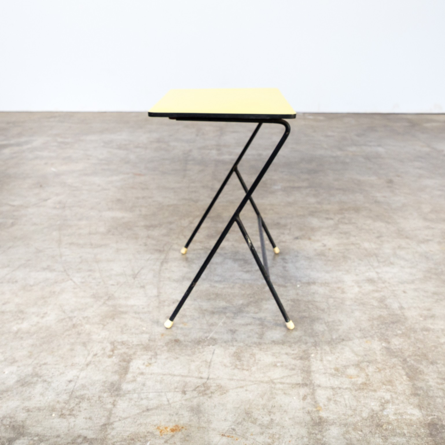 Vintage Metal Side Table Yellow Top By Pilastro   1960s. Previous Next