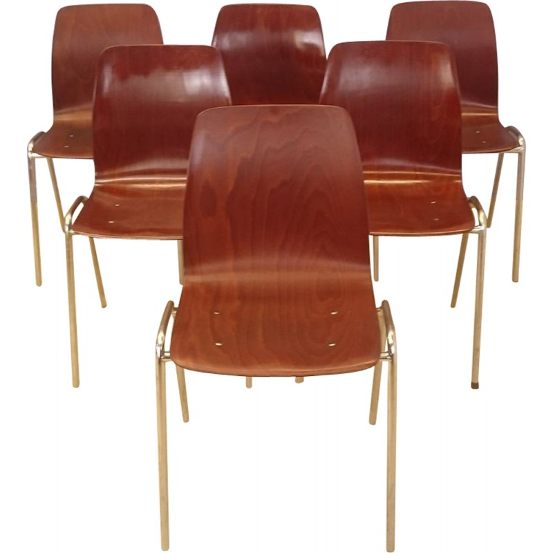 Set Of Six Vintage Chairs By Pagholz   1950s