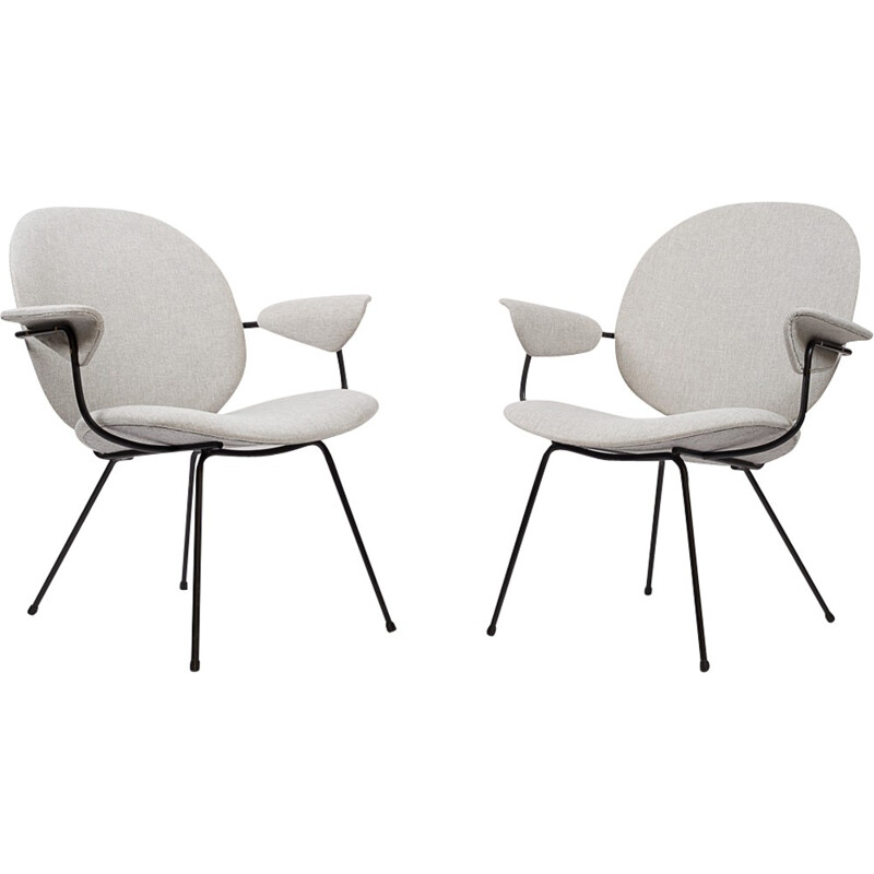 """Pair of """"Triennale"""" armchairs by Gispen - 1950s"""