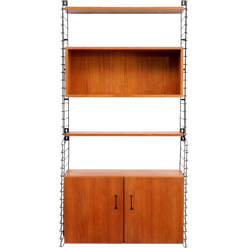 Shelving system in teak by Tomado for Musterring - 1960s