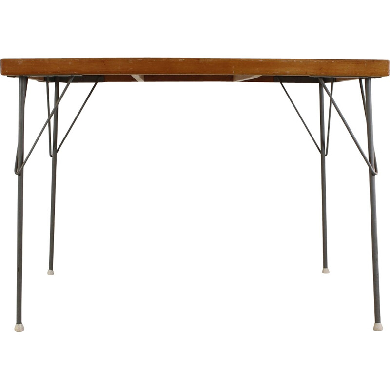 Vintage Industrial kitchen dinner table by Wim rietveld - 1950s
