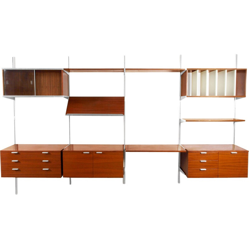 Vintage set of modular wall unit by Nelsson for CSS Mobilier International by Nelsson - 1970s
