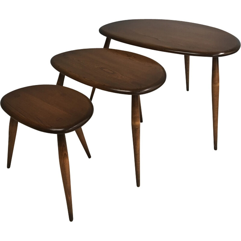 Vintage Nest of tables by Luciano Ercolani for Ercol - 1960s