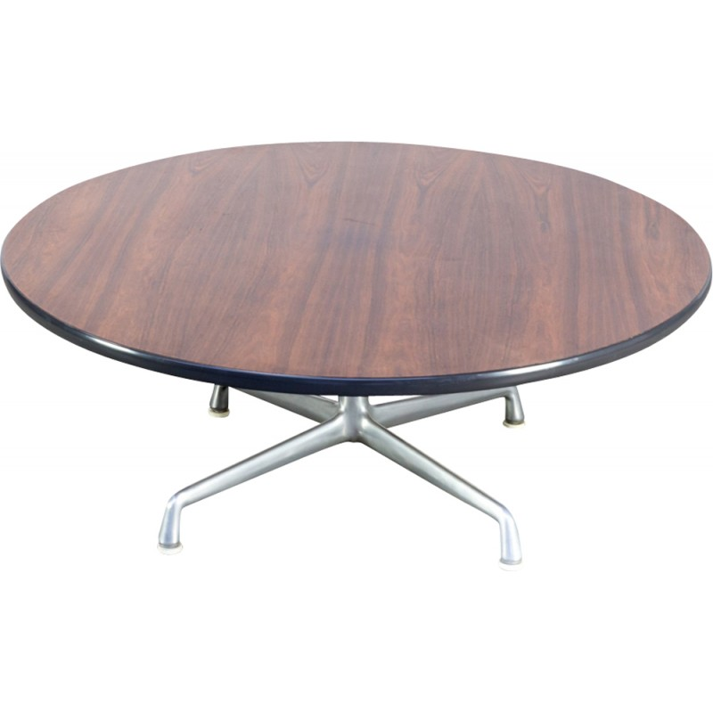 Vintage Round Coffee Table By Herman Miller   1960s