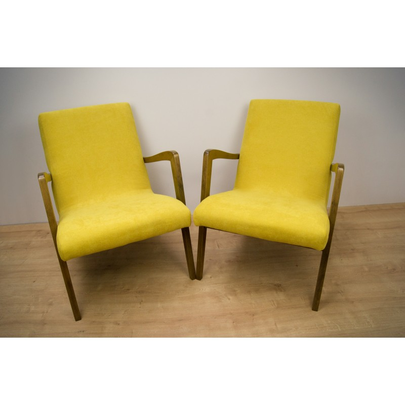 Vintage Set Of 2 Model 300 138 Armchairs From Bystrzyckie Furniture Factory 1960s Design Market