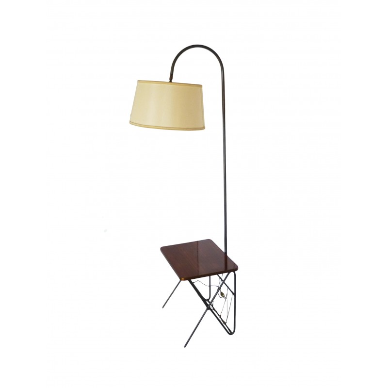 Vintage Floor Lamp With Side Table 1950s Design Market