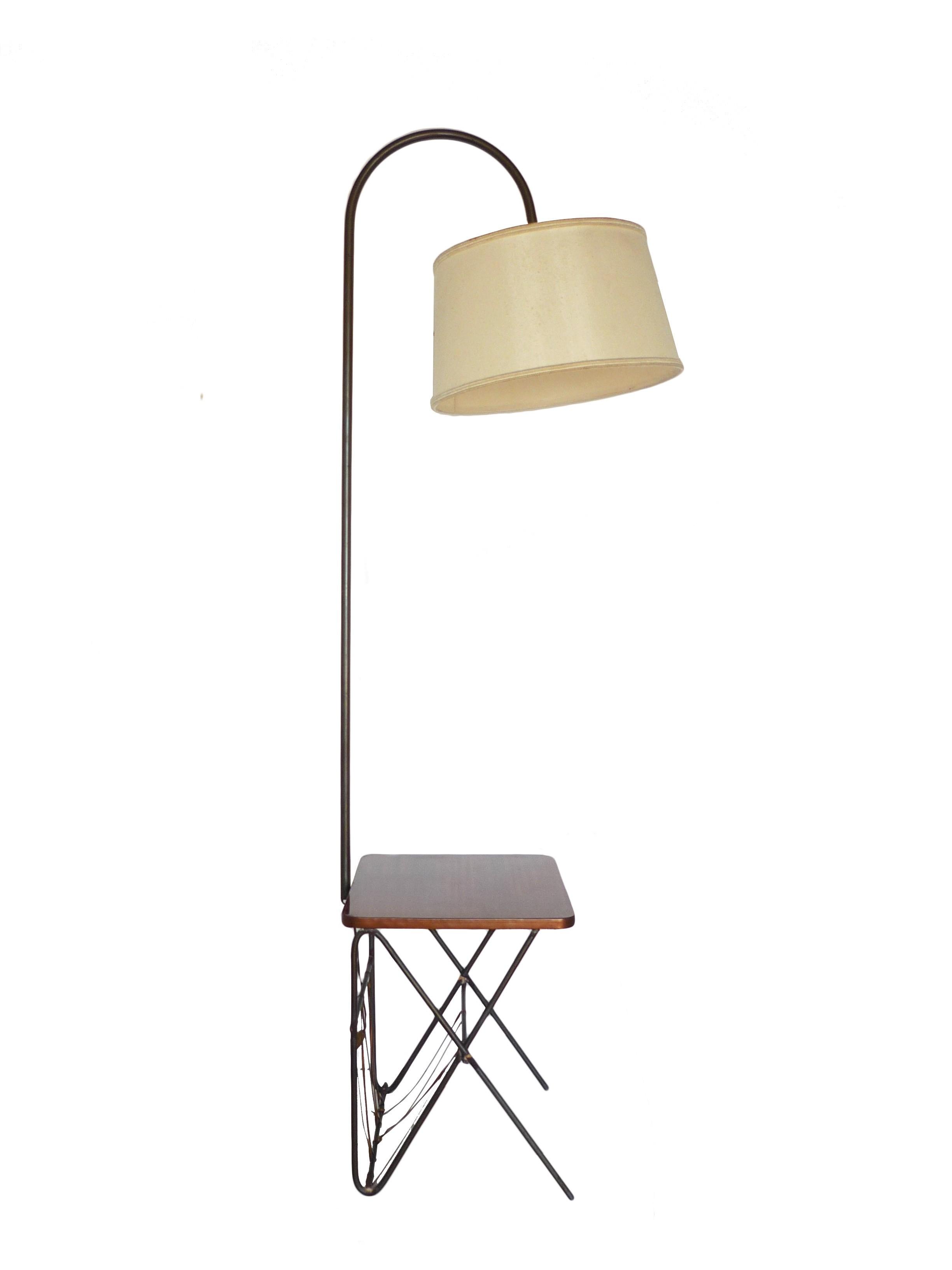 antique vintage brass floor lever swing lamp style wooden arm floors lamps halogen bronze journal art reading