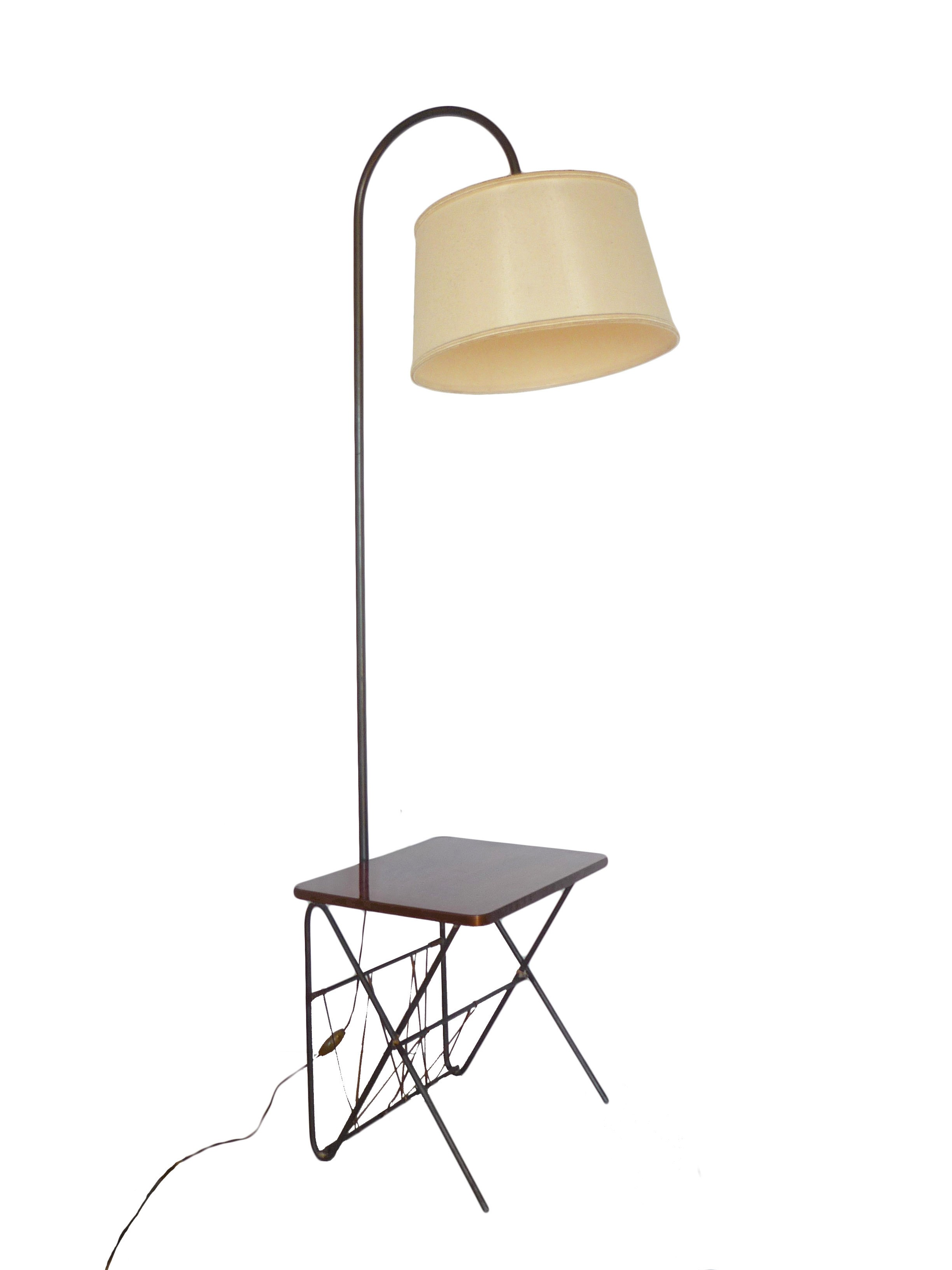 modern lamp shade itm swing style floors floor bronze arm reading stand inches vintage