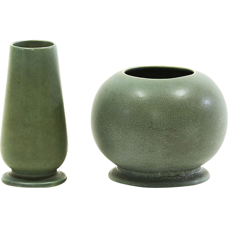 Pair of vintage vases by Gunnar Nylund for Rörstrand - 1930s