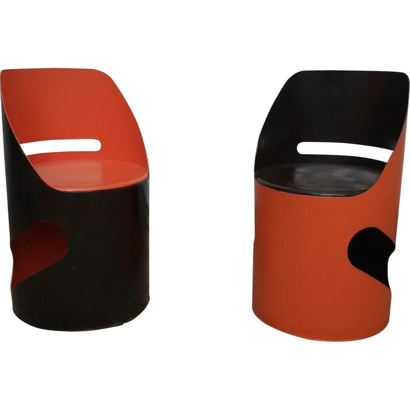 Set of 2 vintage chairs by Jean Louis Avril - 1960s