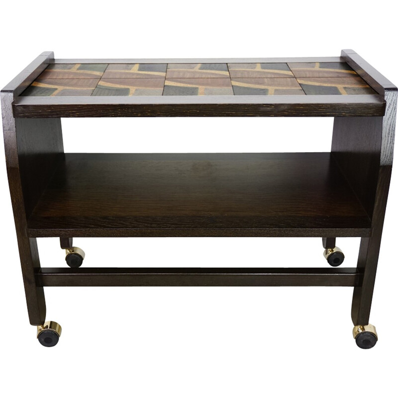 Vintage Serving trolley by Guillerme and Chambron - 1950s