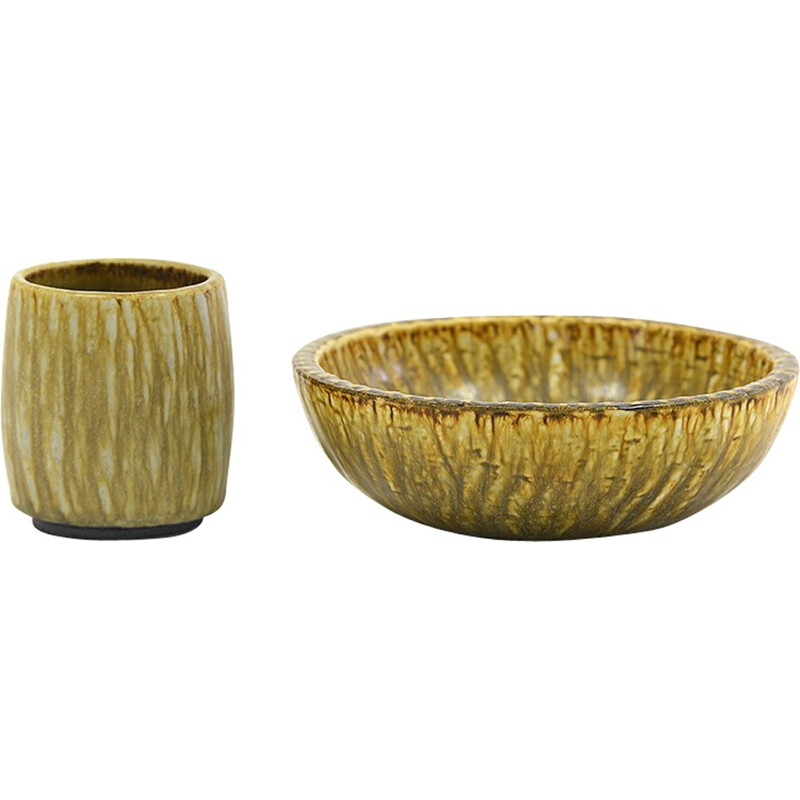 """Cup and bowl """"Rubus"""" by Gunnar Nylund for Rörstrand - 1960s"""