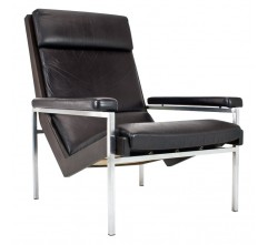Lotus lounge chair in leather and metal, Rob PARRY - 1960s