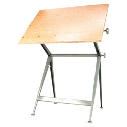 Drafting table in wood and metal, Friso KRAMER and Wim RIETVELD - 1960s