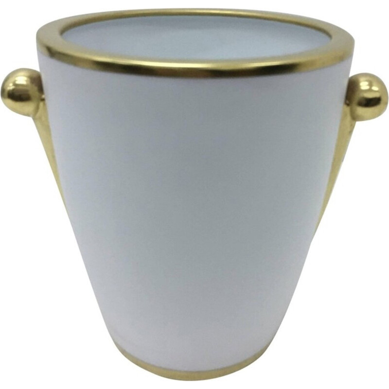 Vintage Porcelain and Pure Gold Vase by Richard Ginori - 1980s