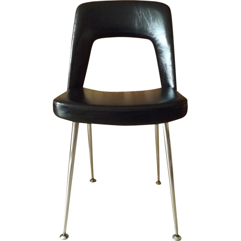 Vintage leatherette conference chair by Eero Saarinen for knoll - 1950s