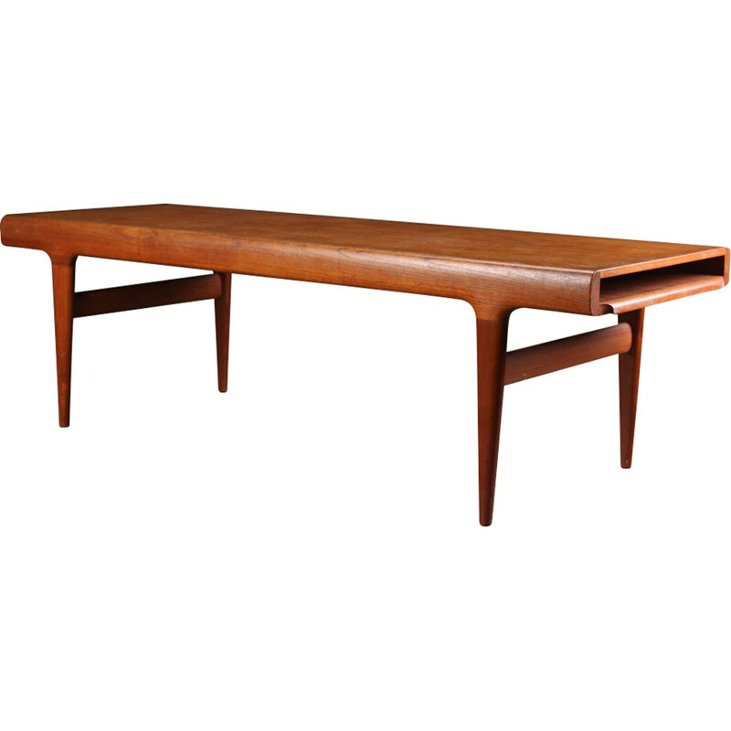Teak coffee table with extensions by Johannes Andersen for Uldum Møbelfabrik - 1960s