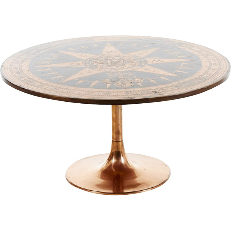 Vintage Round side table - 1970s