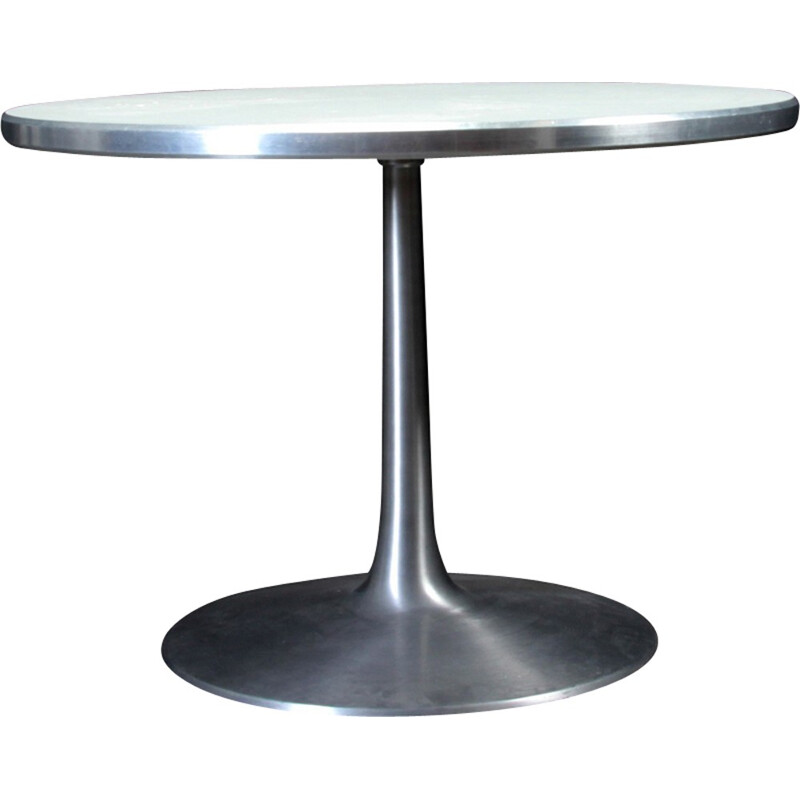 Vintage Circular dining table by Poul Cadovius - 1960s