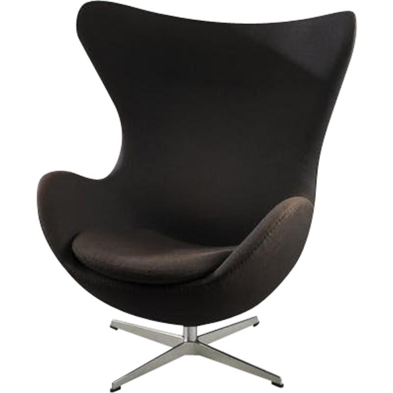 Awesome Vintage Black Egg Armchair By Arne Jacobsen 1990S Gmtry Best Dining Table And Chair Ideas Images Gmtryco