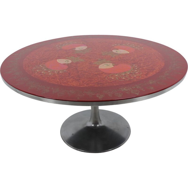 Vintage Circular Dining Table by Poul Cadovius - 1970s