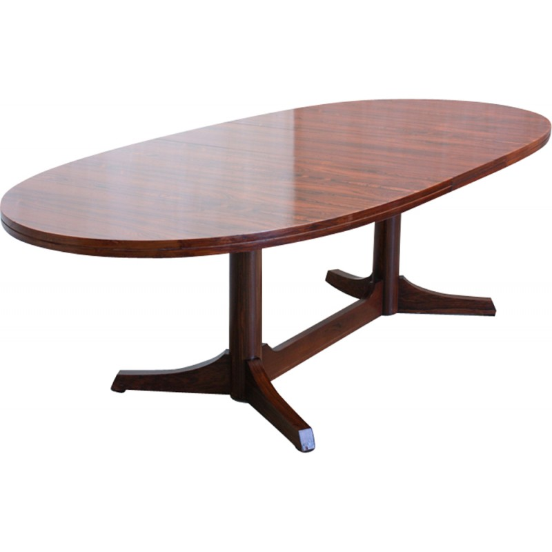 Attractive Vintage Oval Dining Table By Robert Heritage For Archie Shine   1960s