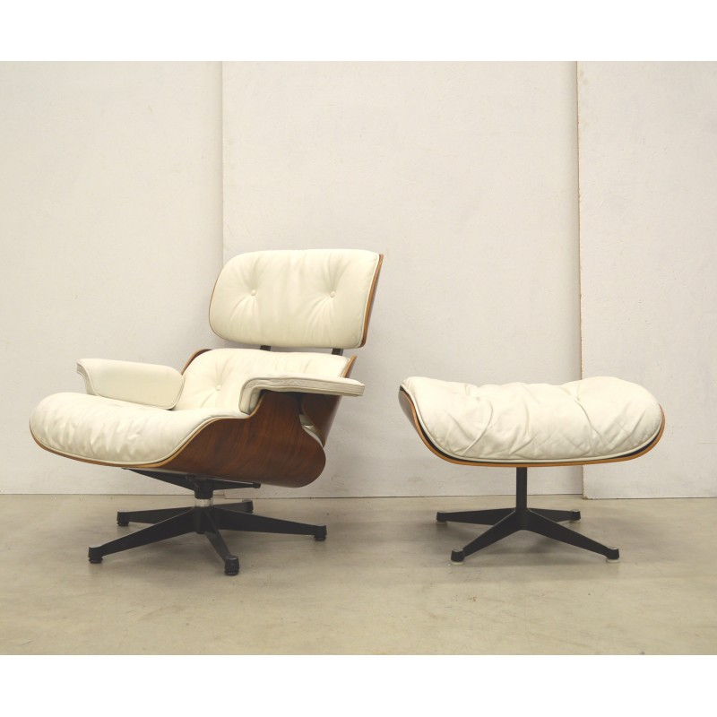 Astonishing Vintage White Lounge Chair By Charles Eames For Herman Miller 1970S Caraccident5 Cool Chair Designs And Ideas Caraccident5Info