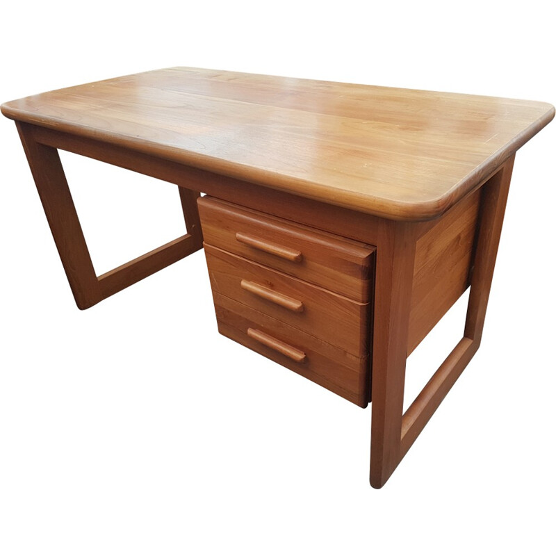 Danish Teak Solid Desk - 1970s