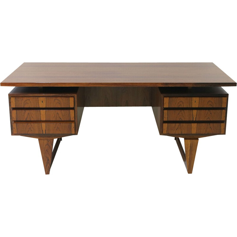 Vintage Rosewood Desk by Illum Wikkelso for Mikael Laursen - 1960s