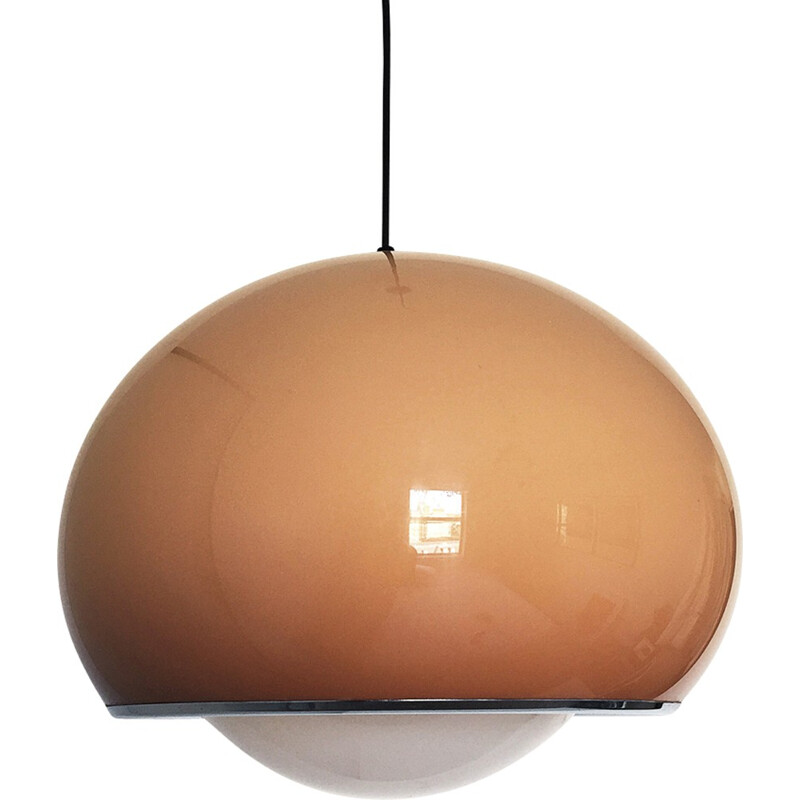 Brown plastic Pendant Lamp by Guzzini - 1960s