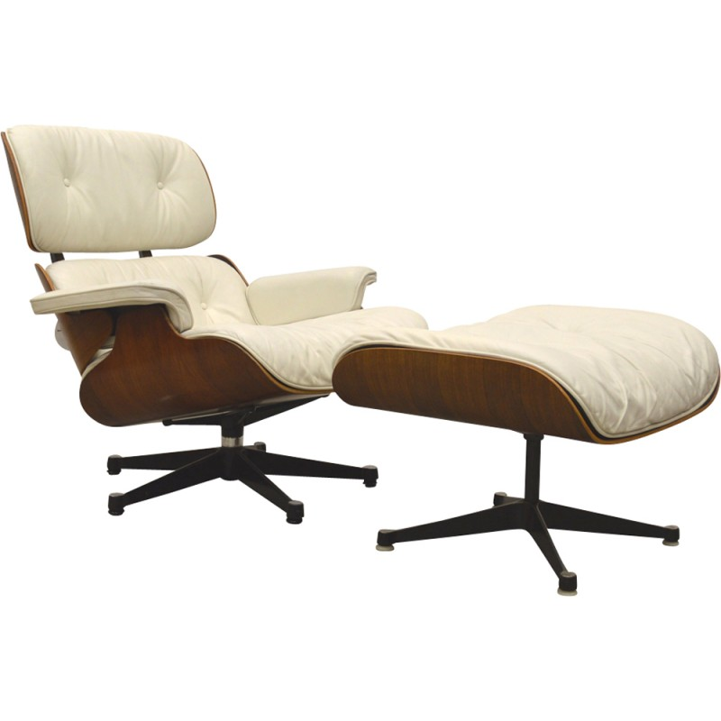 Astonishing Vintage White Lounge Chair By Charles Eames For Herman Miller 1970S Gamerscity Chair Design For Home Gamerscityorg