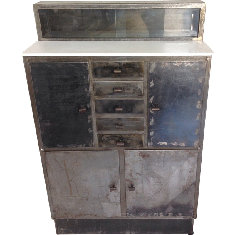 Small iron vintage cabinet - 1930s