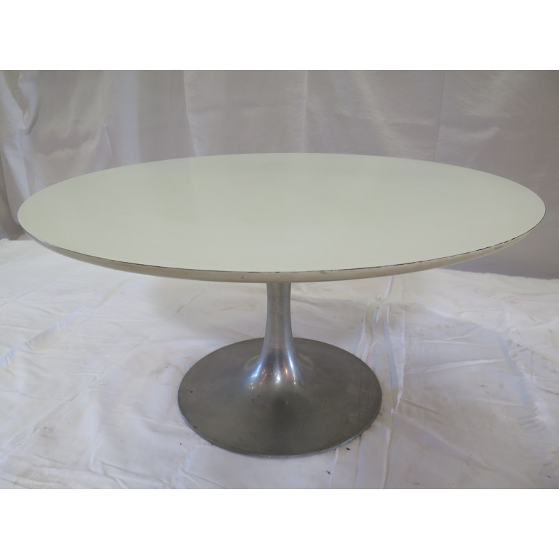 Vintage Coffee Table With Round Tulip Legs By Maurice Burke For Arkana 1960s