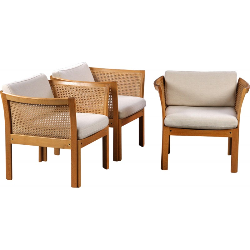 Set of 3 vintage Plexus armchairs by Illum Vikkelso - 1960s