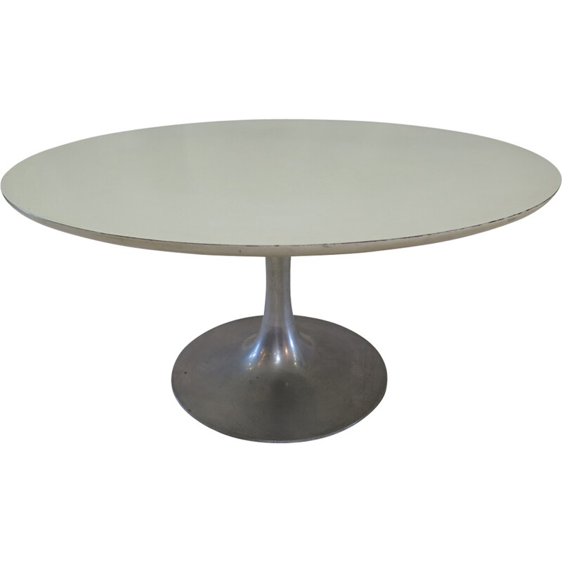 Vintage coffee table with round tulip legs by Maurice Burke for Arkana - 1960s