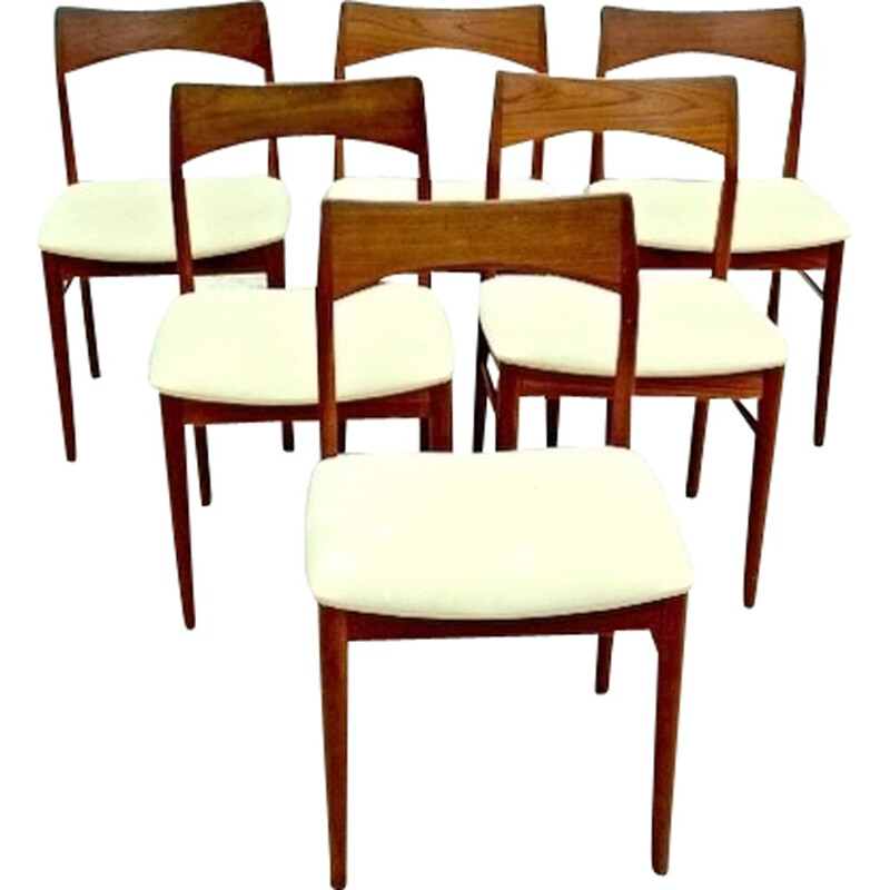 Set of 6 chairs by Henning Kjaernulf for Mobelfabrik - 1960s