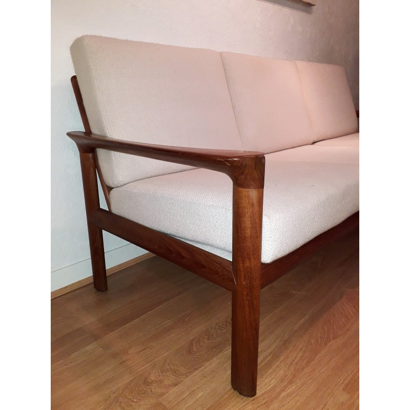 Cool Vintage Borneo 3 Seater Sofa In Solid Oak By Sven Ellekaer For Komfort 1960S Bralicious Painted Fabric Chair Ideas Braliciousco
