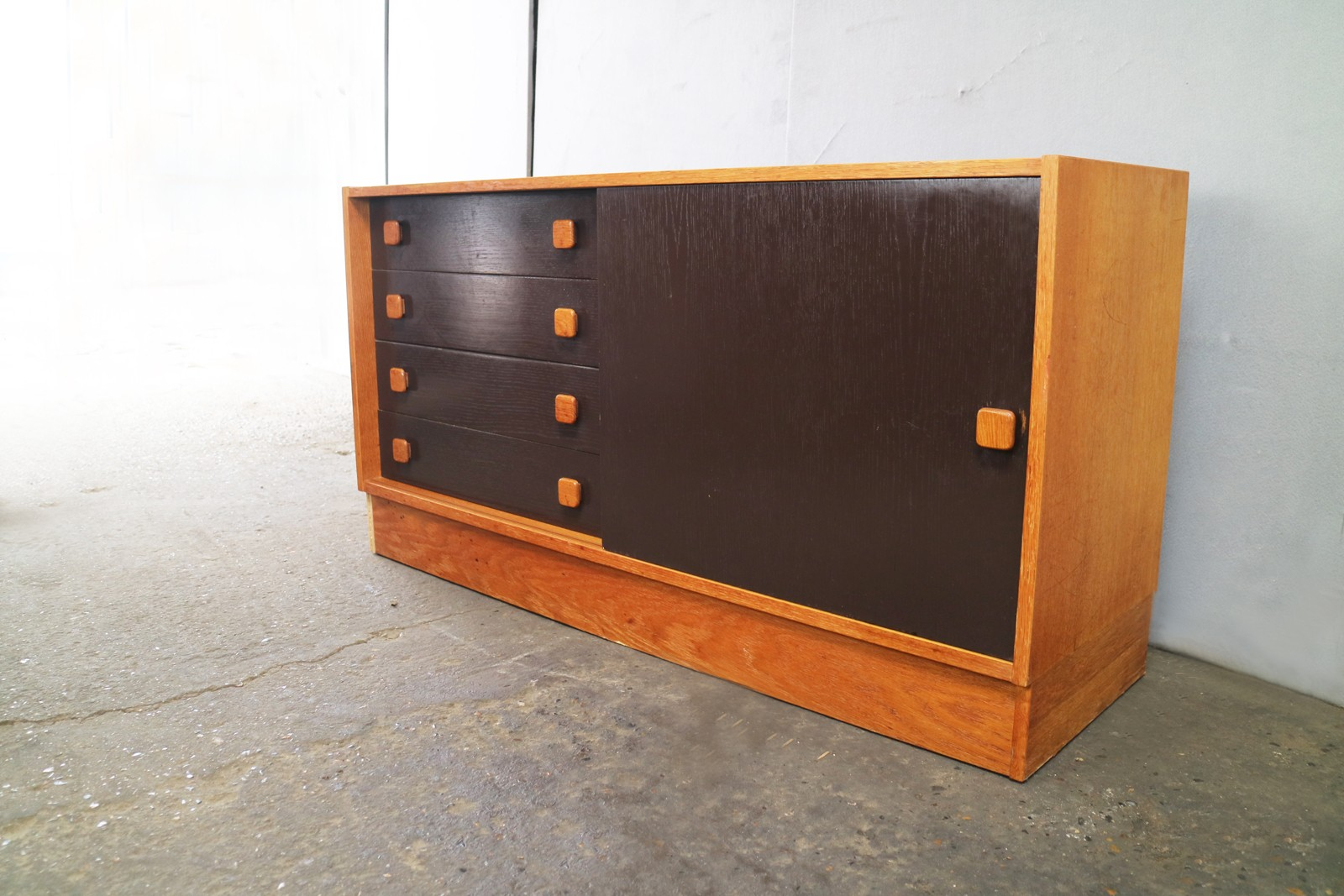 Danish Teak Credenza For Sale : Vintage danish teak credenza by domino mobler 1960s design market