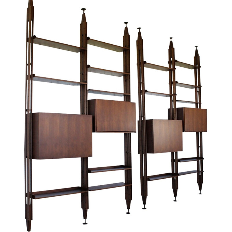 "Set of 2 vintage ""LB7"" bookcase by Franco Albini - 1950s"