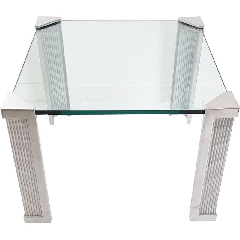 """""""T14"""" Square Coffee Table by Peter Ghyczy - 1970s"""