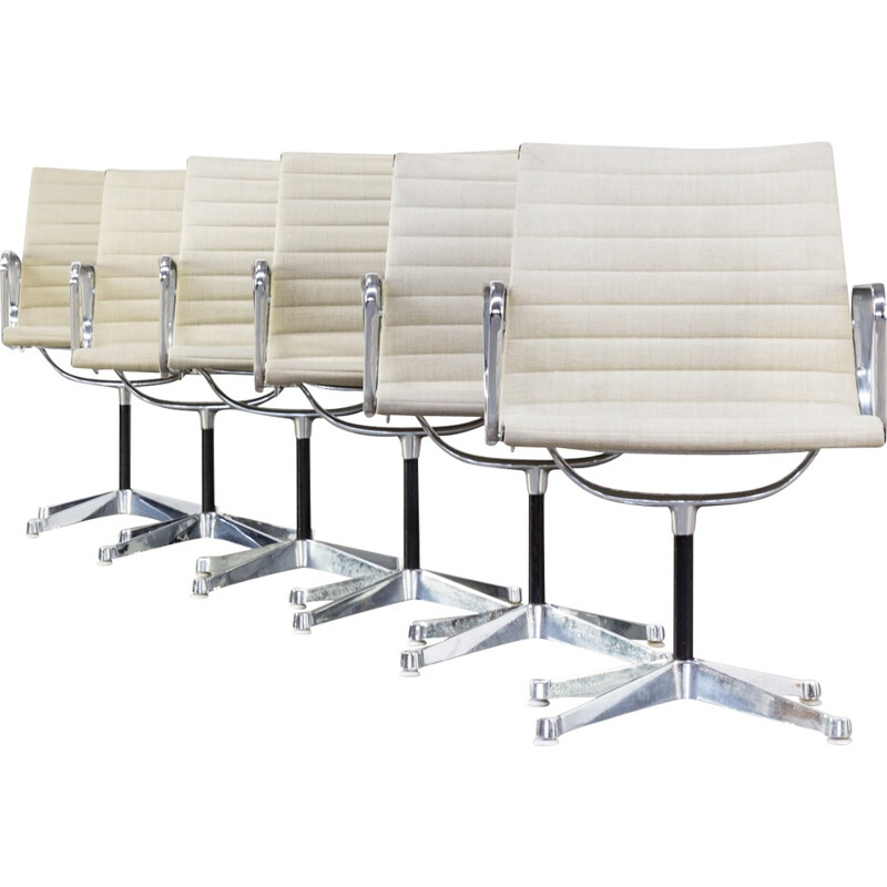 """Set of 6 armchairs """"EA108"""" by Ray & Charles Eames for Herman Miller - 1950s"""