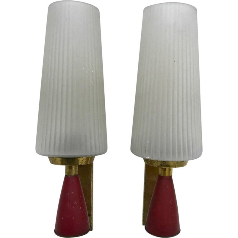 Vintage Wall Sconces in Brass - 1950s
