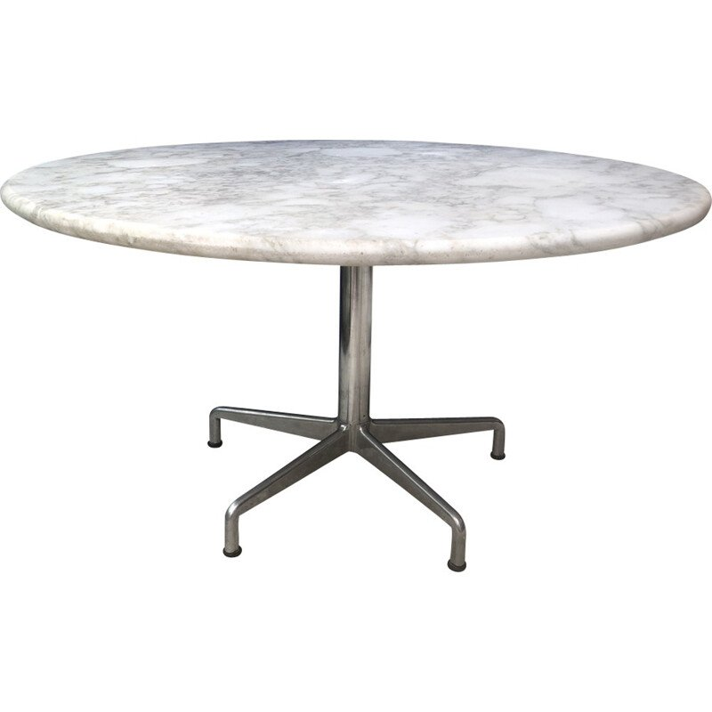 Vintage marble dining table by Eames - 1960s