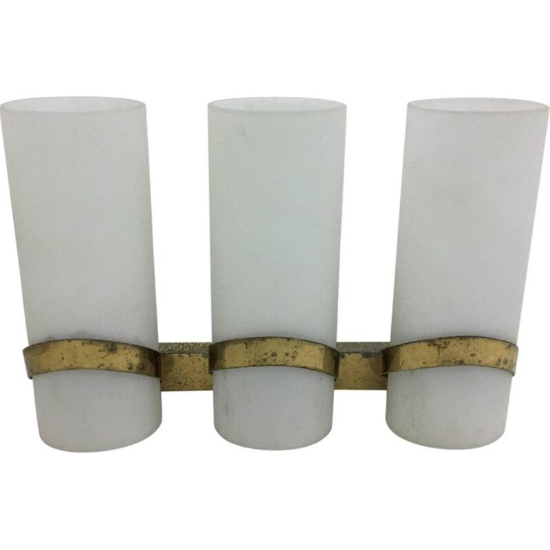 Vintage 3 lights wall sconce by Pietro Chiesa for Fontana Arte - 1950s