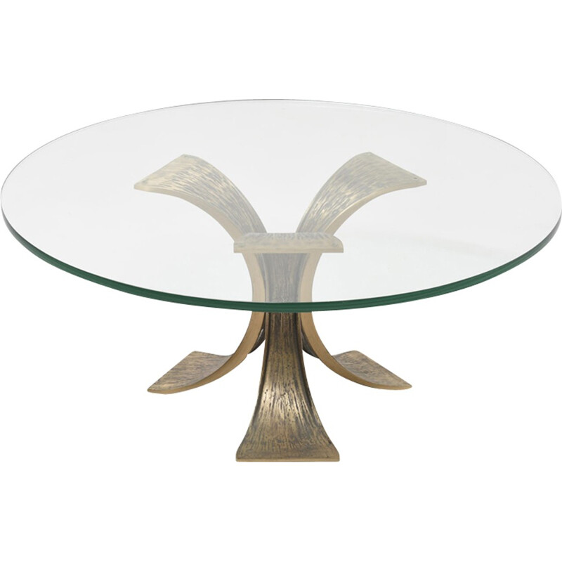 Large Bronze Coffee Table By Jacques Quinet For Broncz 1960s Design Market
