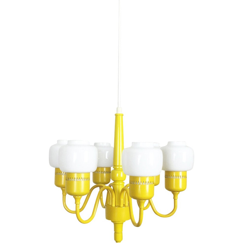 Hurricane Yellow Hanging Light by Hans-Agne Jakobsson - 1960s